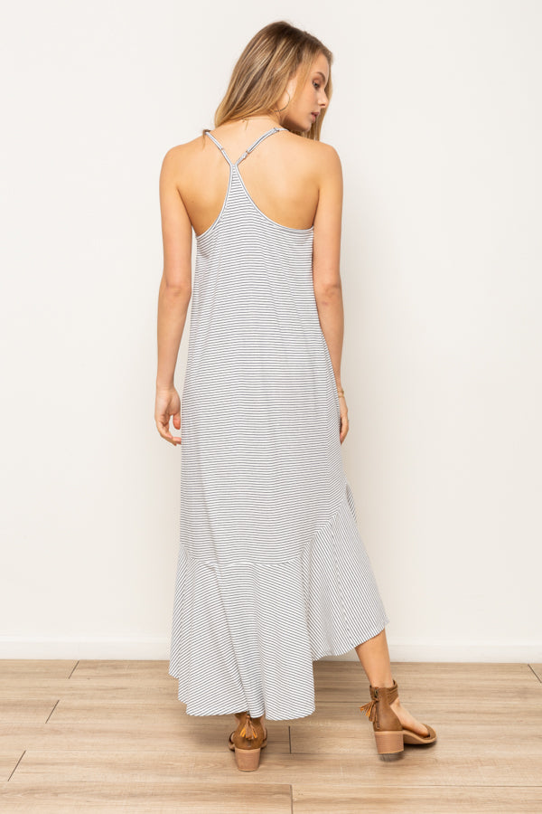 Ruffle Hem Maxi Dress