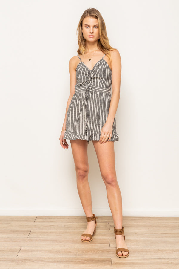 Ruched Front Romper