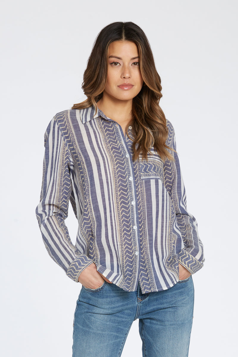 Sophia Chambray Top