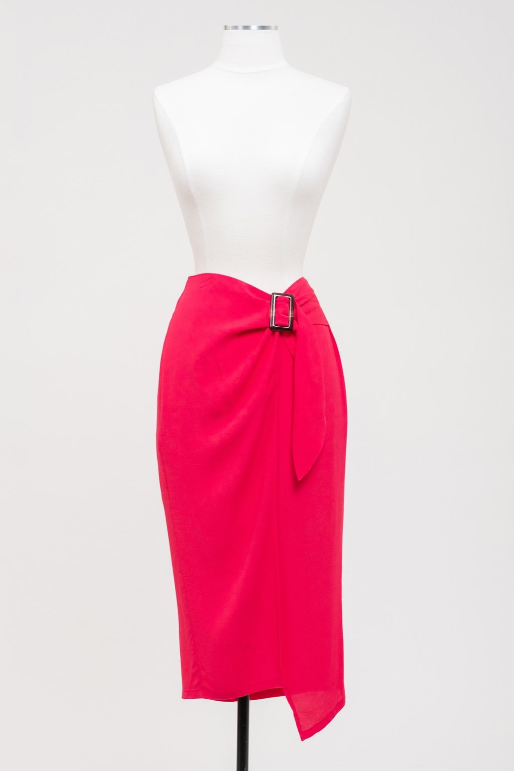 Punch Pink Wrap Skirt