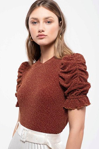 Lila Scrunch Sleeve Top