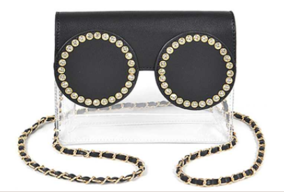 Glam Glasses Clear Clutch