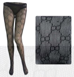 High Waist Pattern Tights