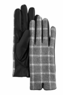 Grey Windowpane Glove