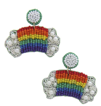 Beaded Rainbow Earring #2