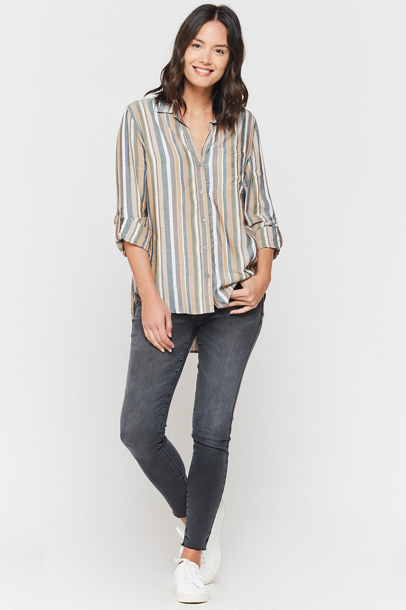 Elisa Stripe Button Up