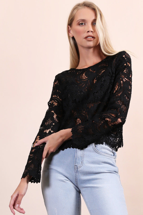 Scalloped Lace Top