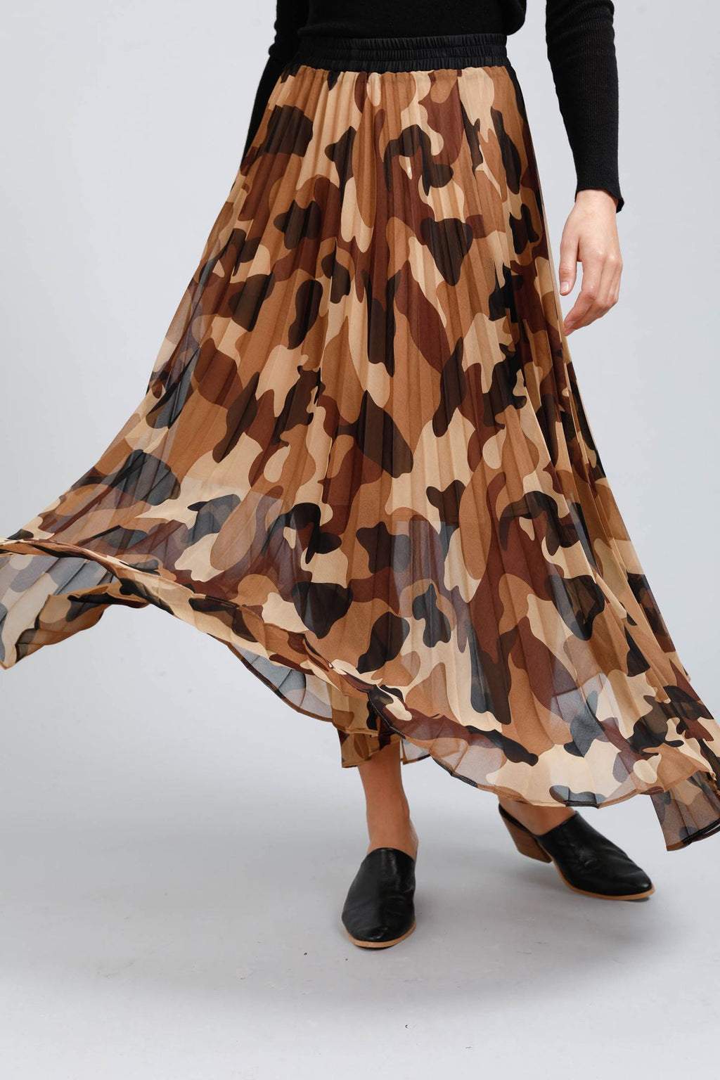 Alias Camo Pleated Skirt