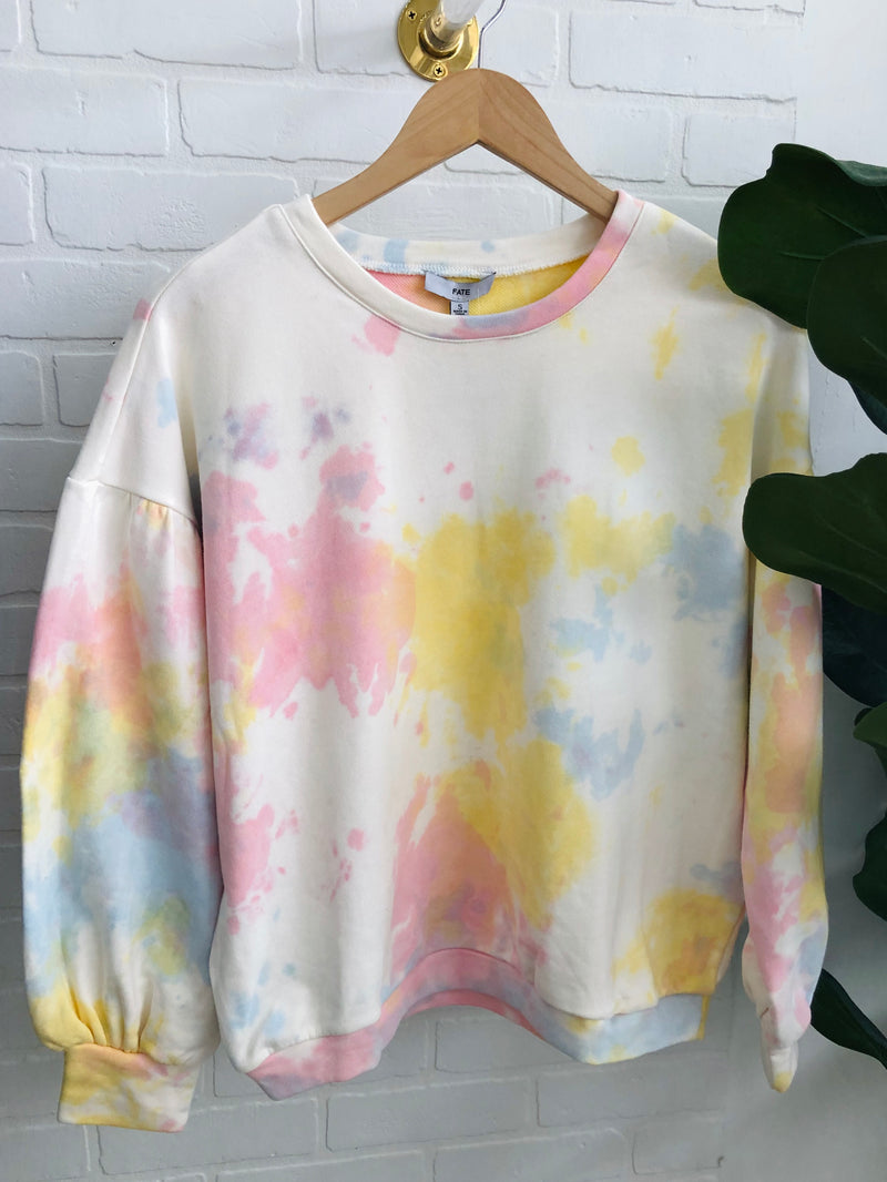 Yellow Tie Dye Sweatshirt