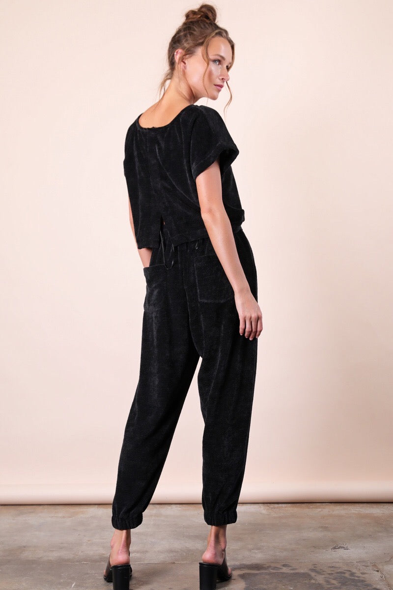 Channel Knit Jumpsuit