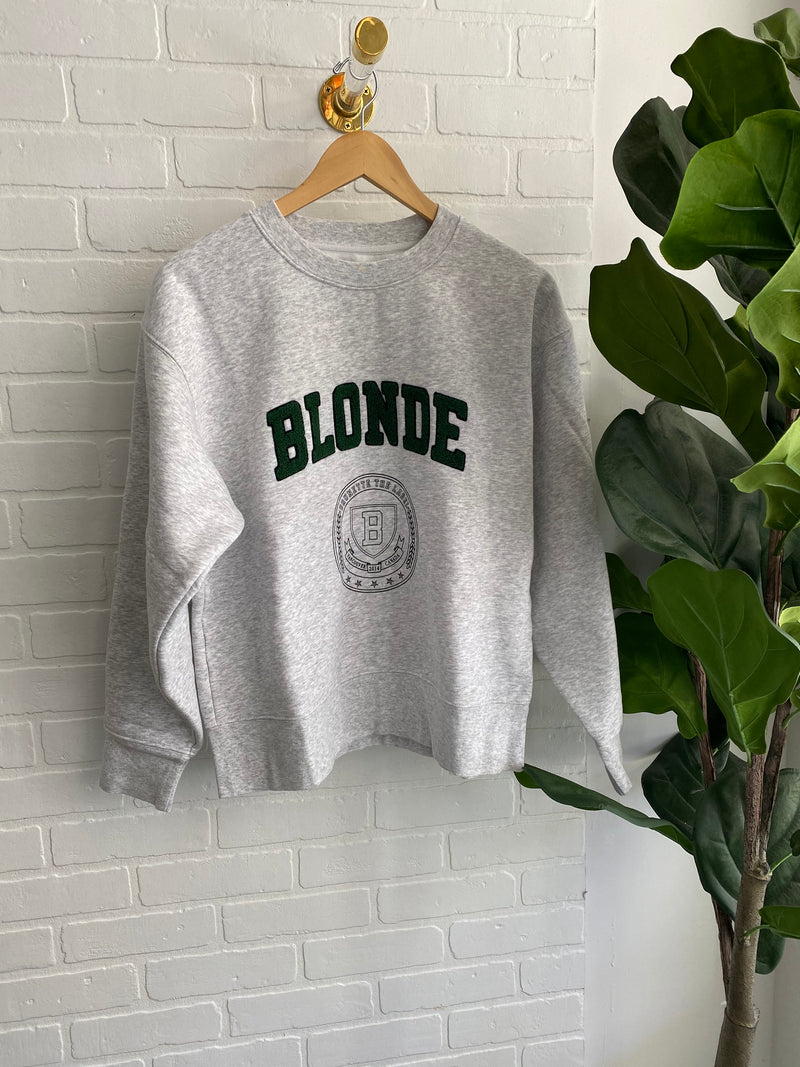 Blonde Collegiate Crewneck