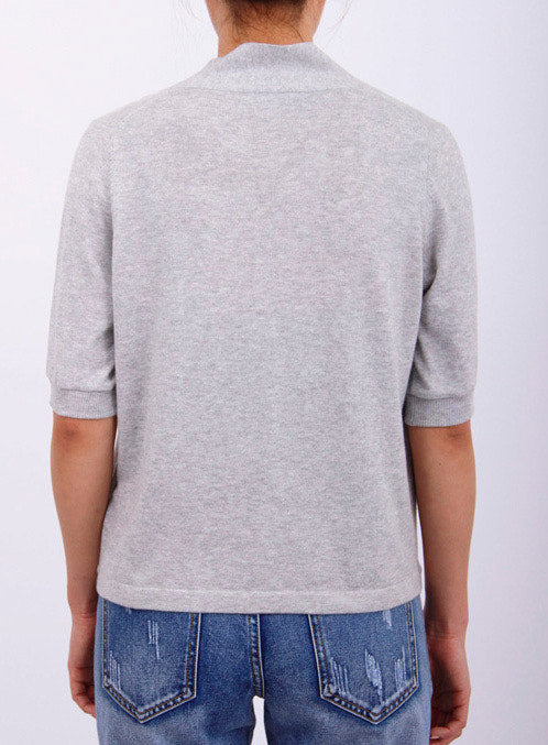 Grey surplice top
