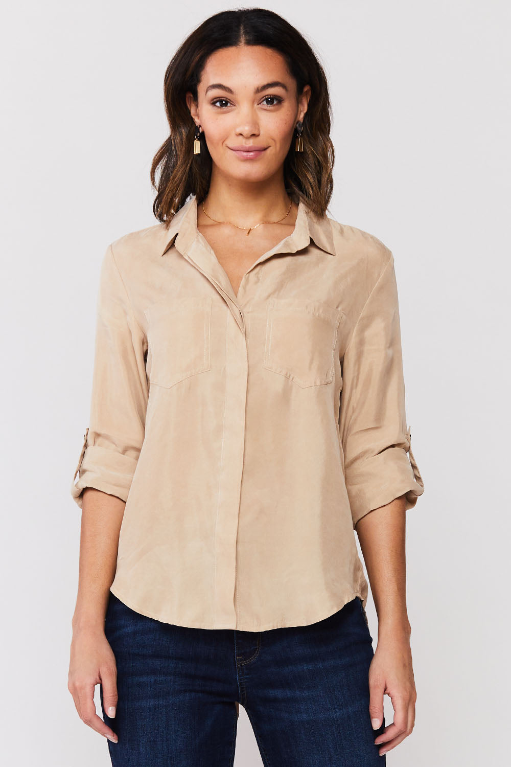 Khaki Riley Top
