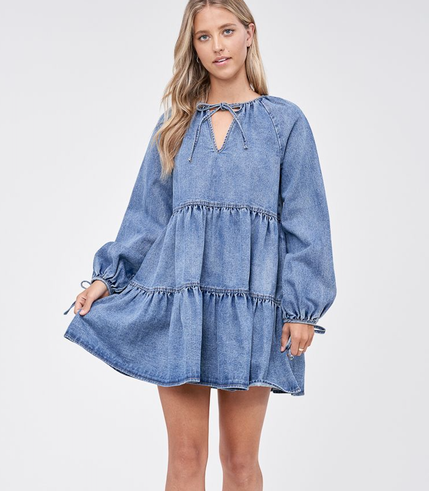 Denim Tier Dress