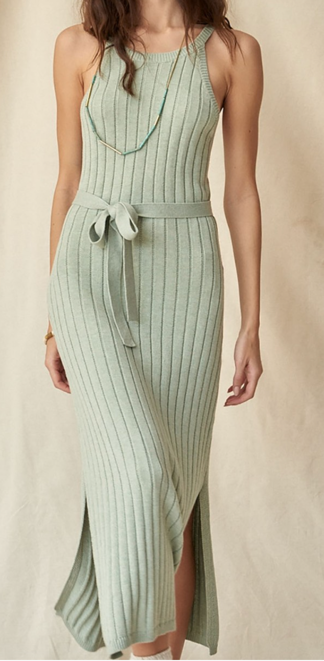 Ribbed Knit Midi