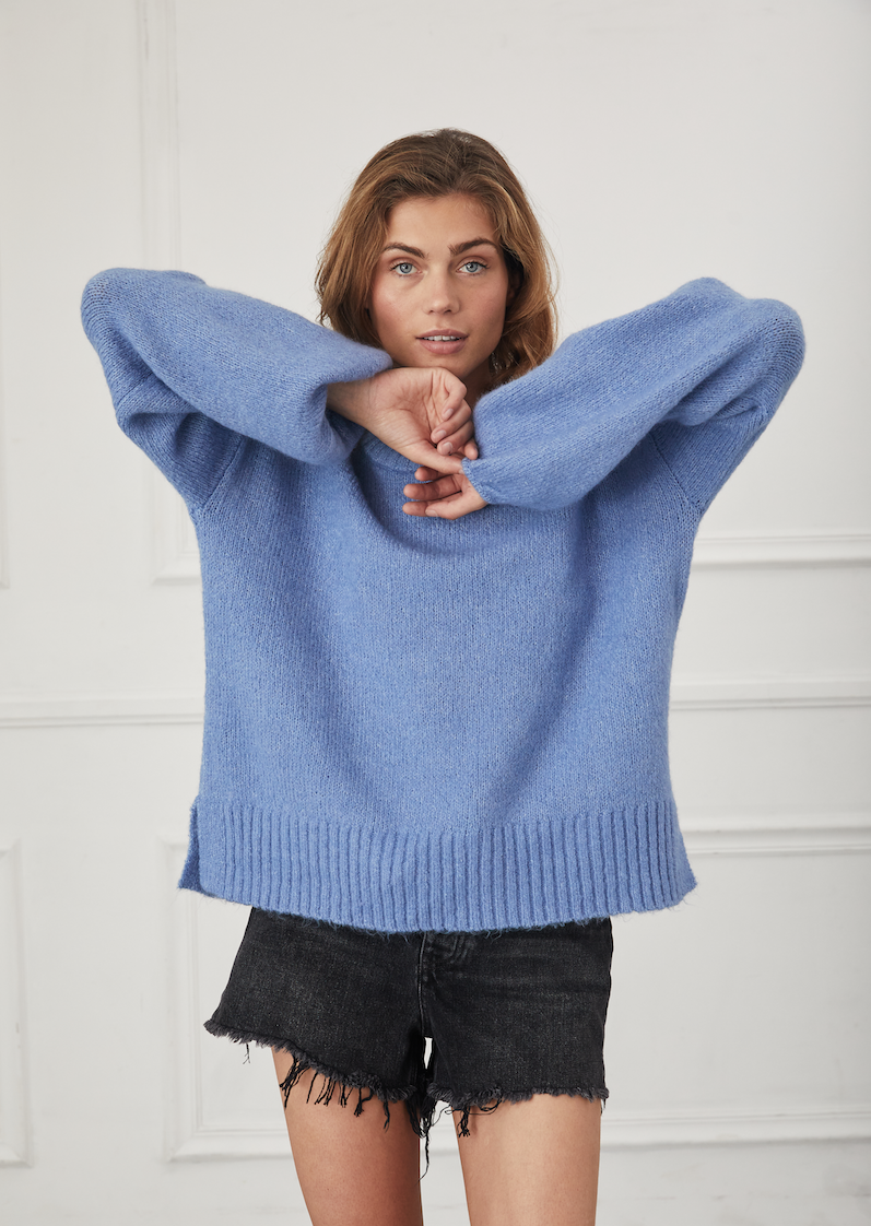 Chambray Crew Sweater