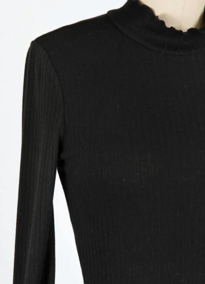 Raw Cropped Turtleneck
