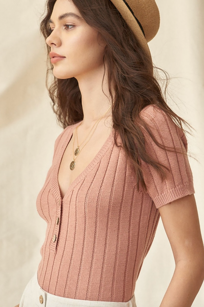 Dusty Peach Cardigan