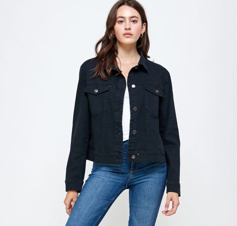 Ellison Black Denim Jacket