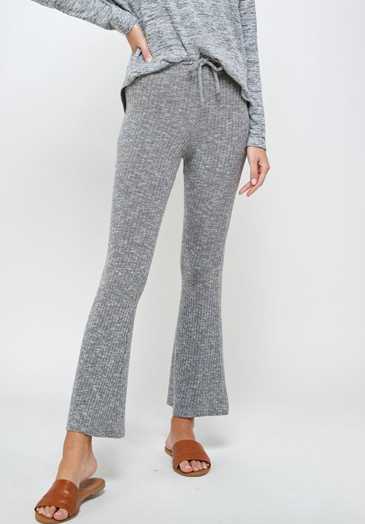 Ribbed Bell Pants