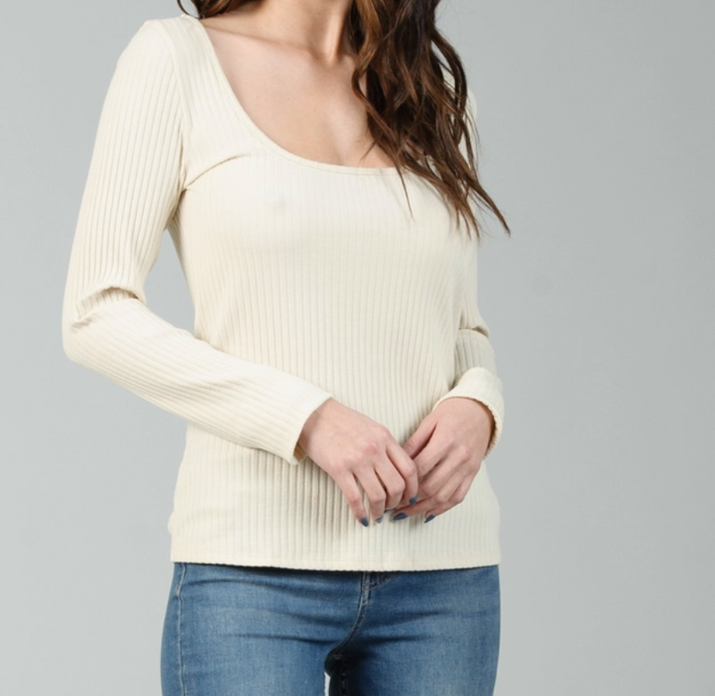 Fig Ribbed Top