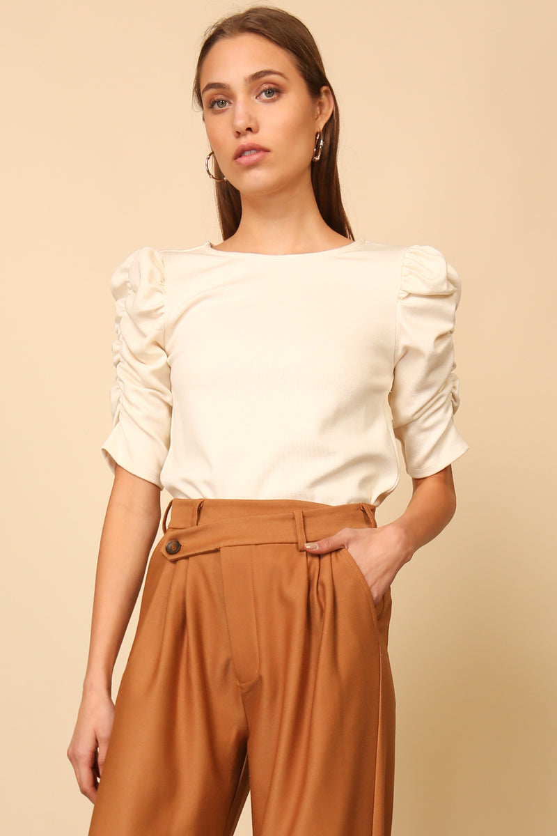 Ivory Puff Sleeve Top