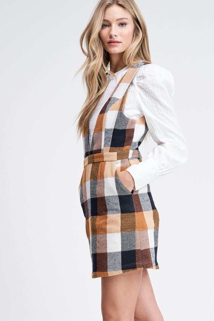 Plaid Mini Woven Dress