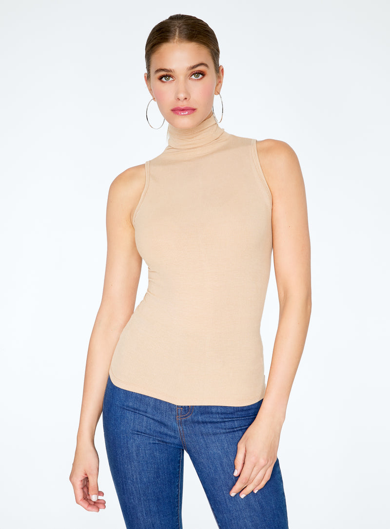 Ribbed Tank Turtle Neck