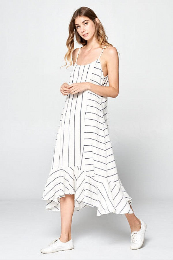 Off White Stripe Dress