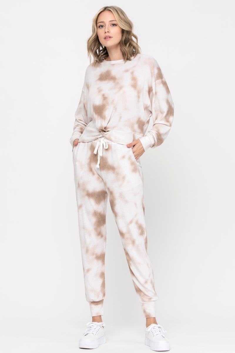 Taupe Tie Dye Jogger