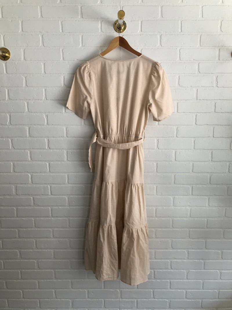 Linen belted dress