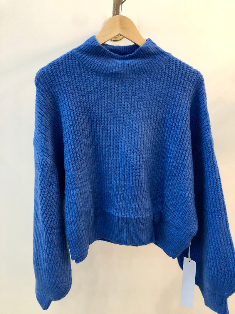 Balloon Mock Neck Sweater