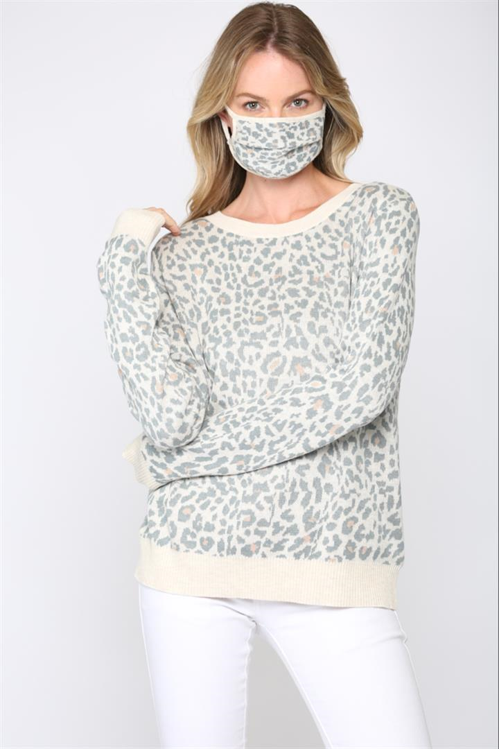 Light Leopard Sweater