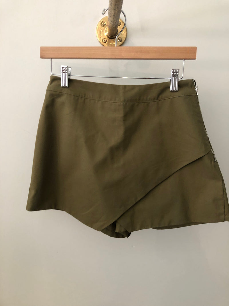 Palm Leaf Wrap Skort