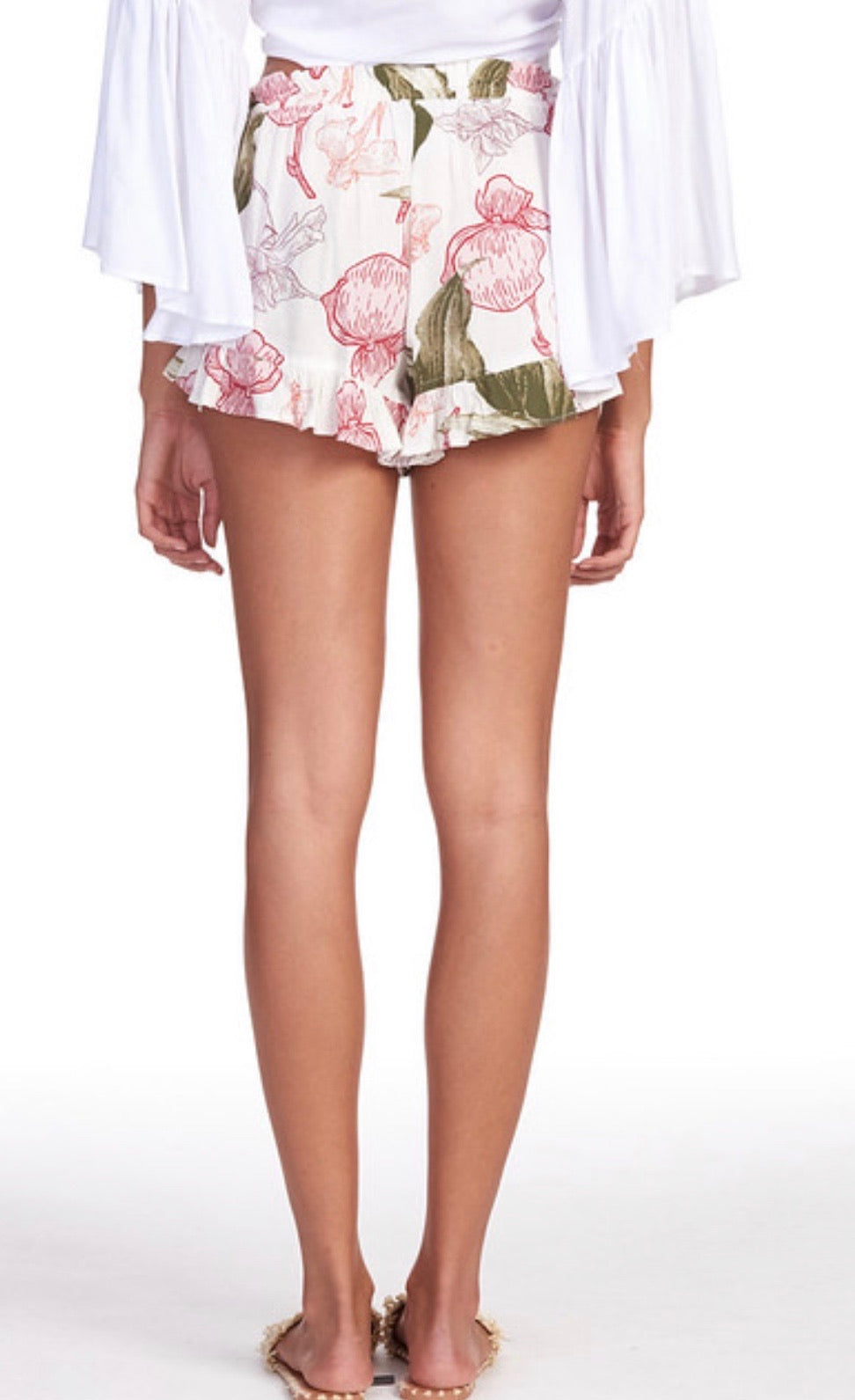 Floral Ruffle Short