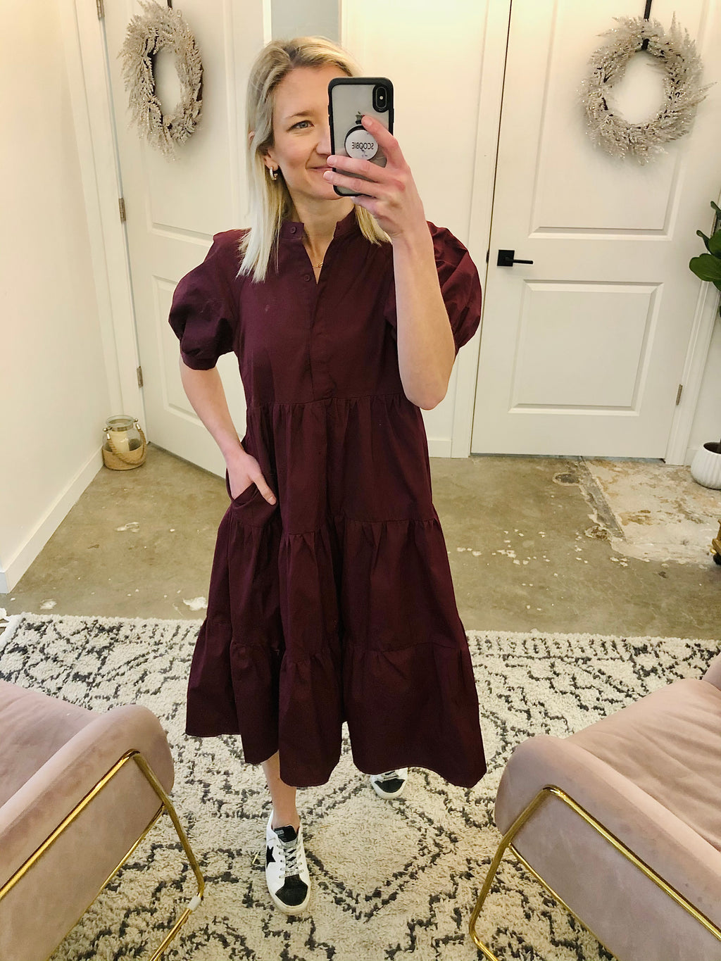 Short Puff Sleeve Dress