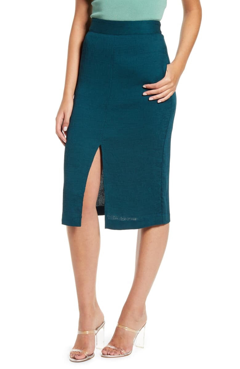 Corduroy Stretchy Pencil Skirt
