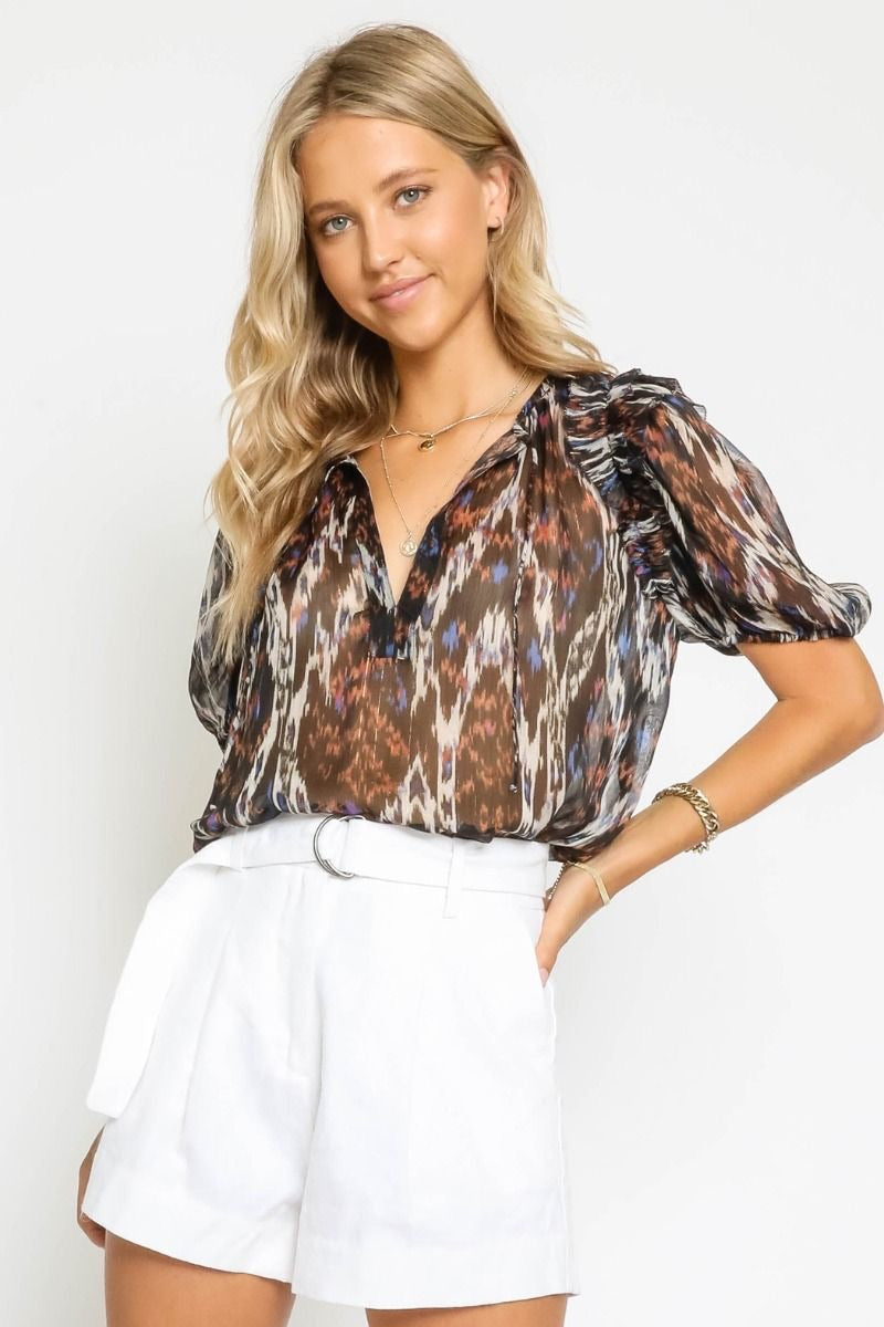Black Rust Blouse