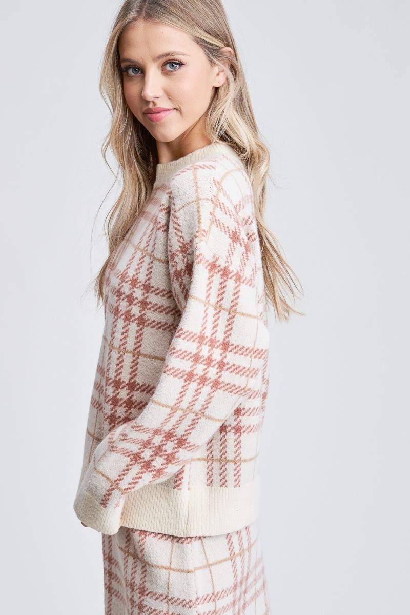Plaid Sweater Pullover