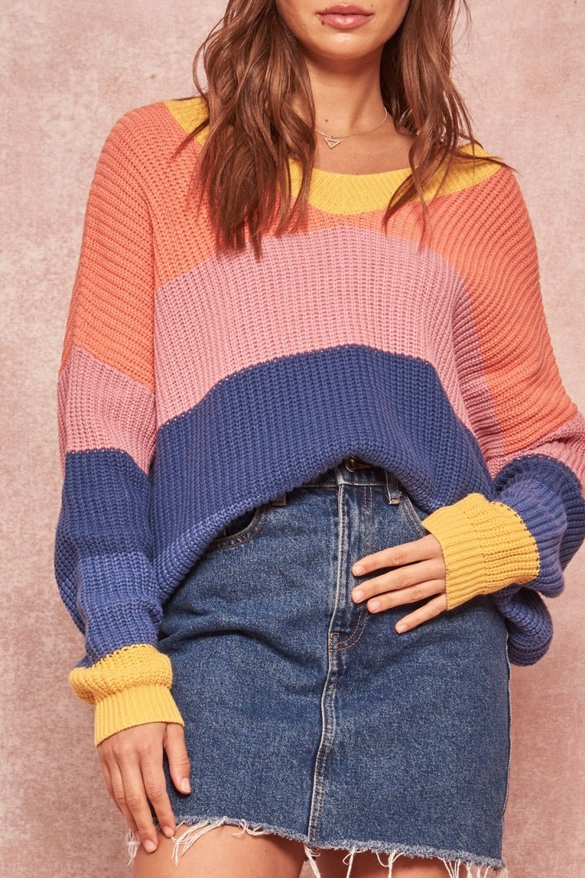 Block Color Sweater