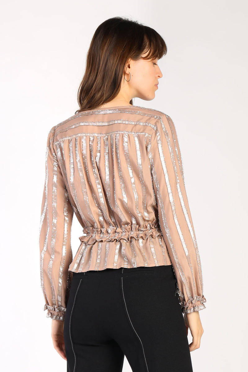 Metallic Stripe Blouse