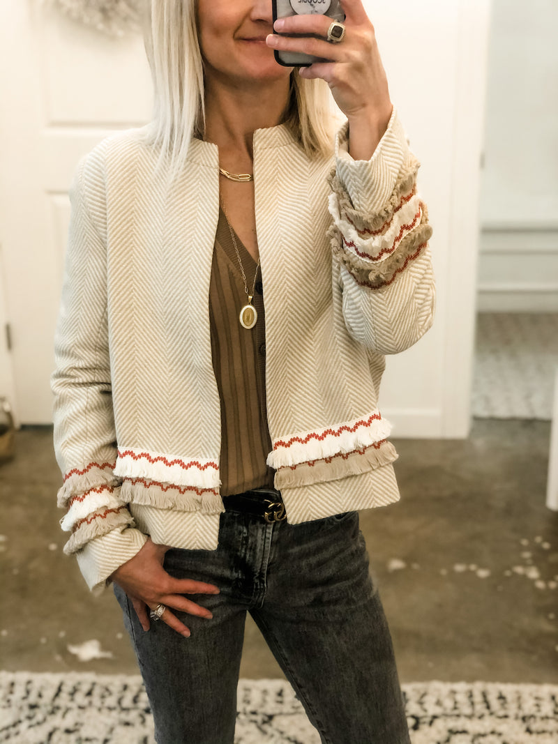 Fringe Trim Jacket