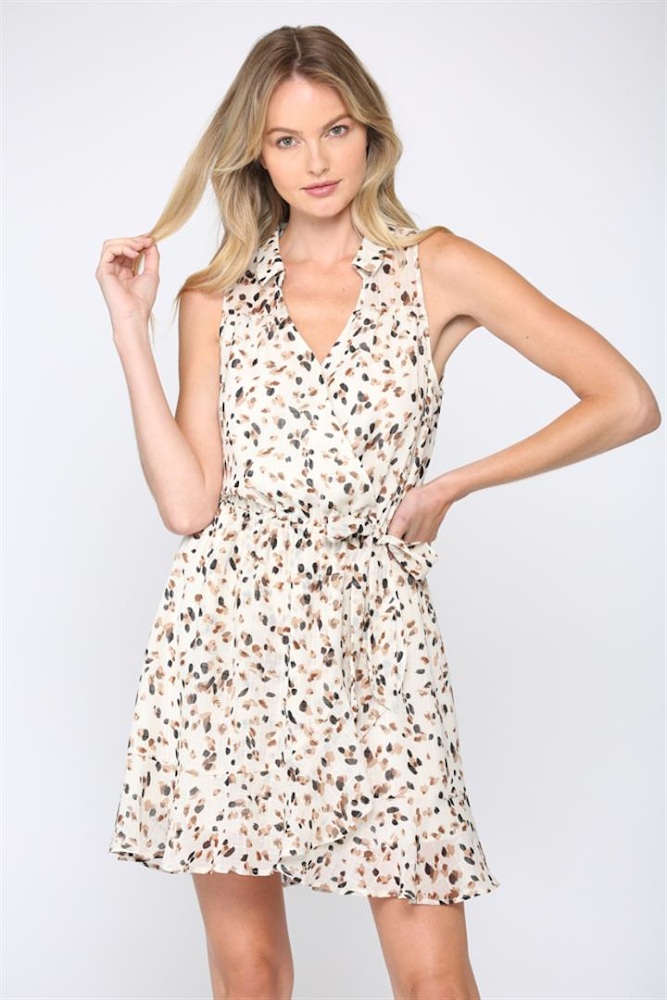 Spotted Wrap Dress