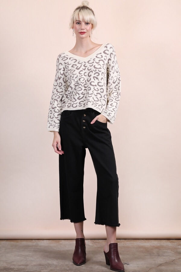 Leopard Sweater Top