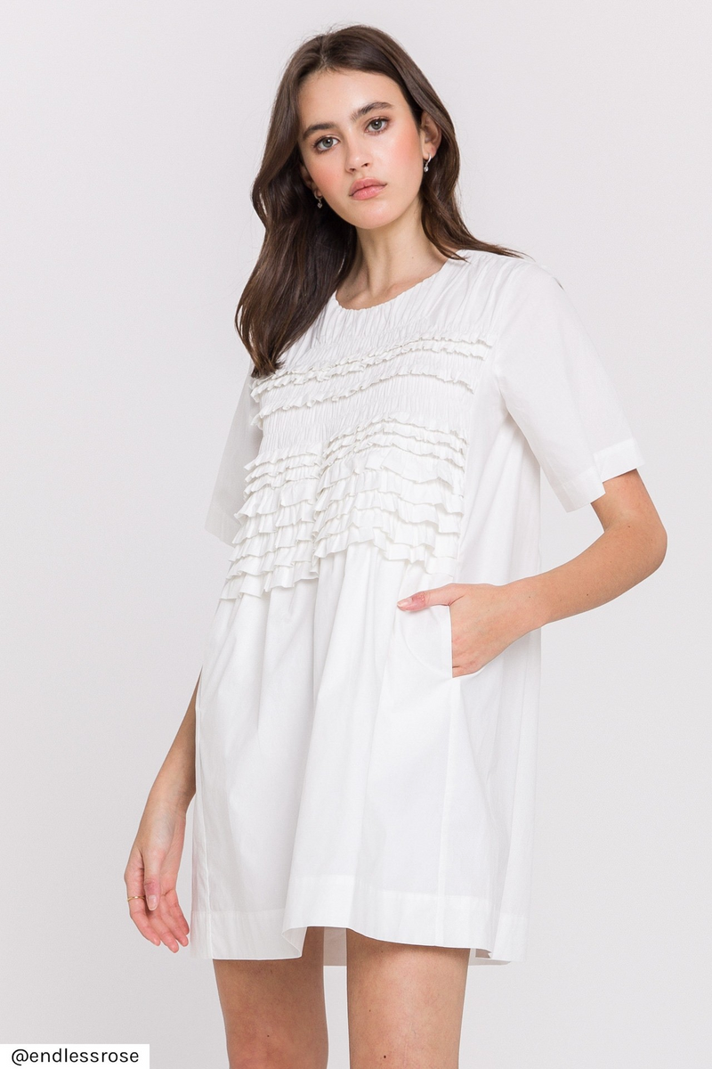 Oversized White Shirt Dress
