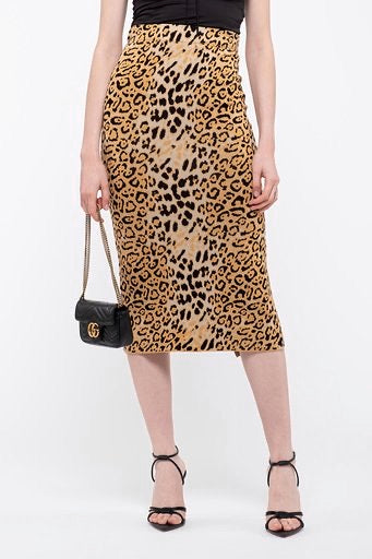 Leopard Fitted Skirt