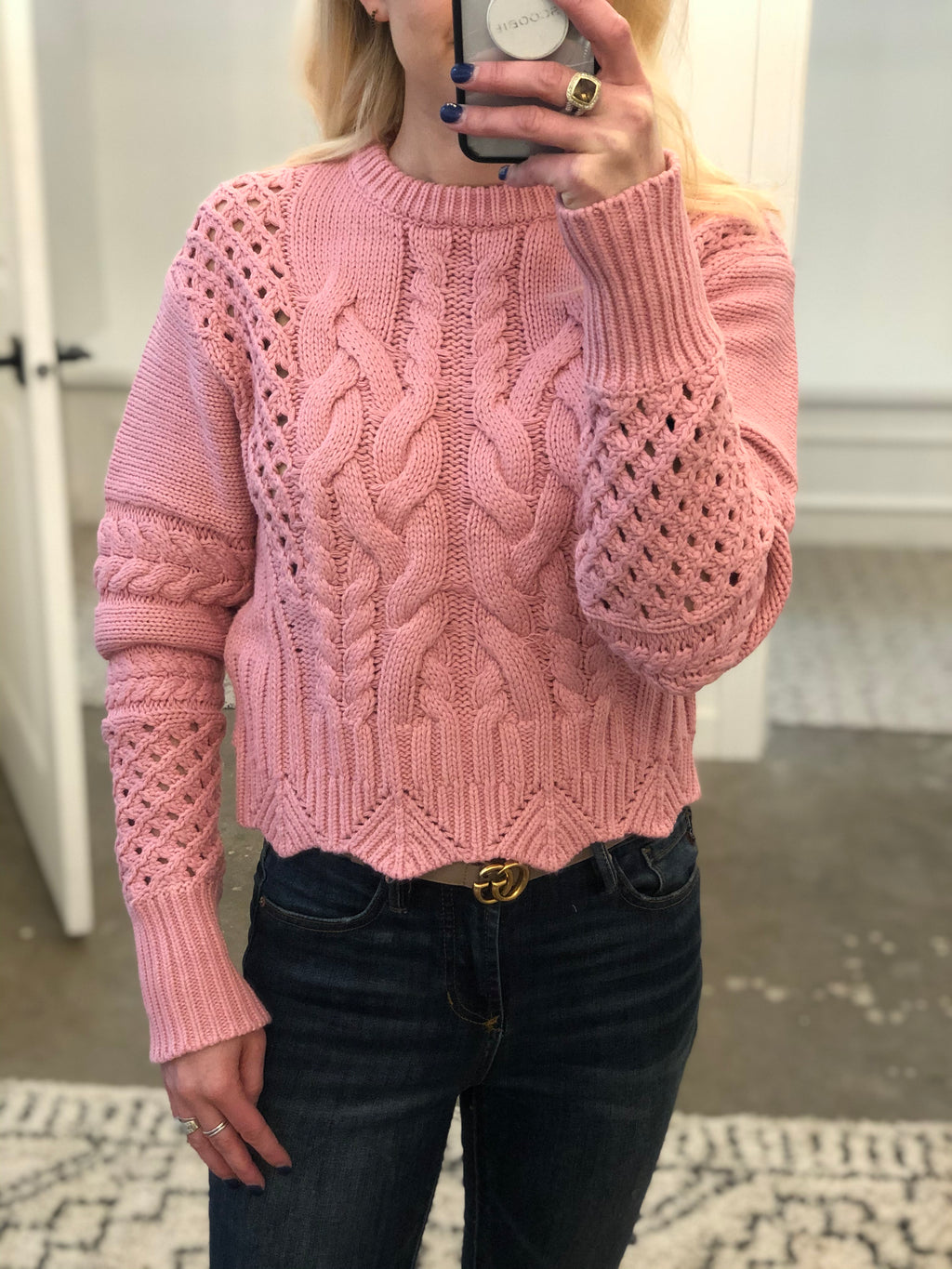 Spring Cable Knit Sweater
