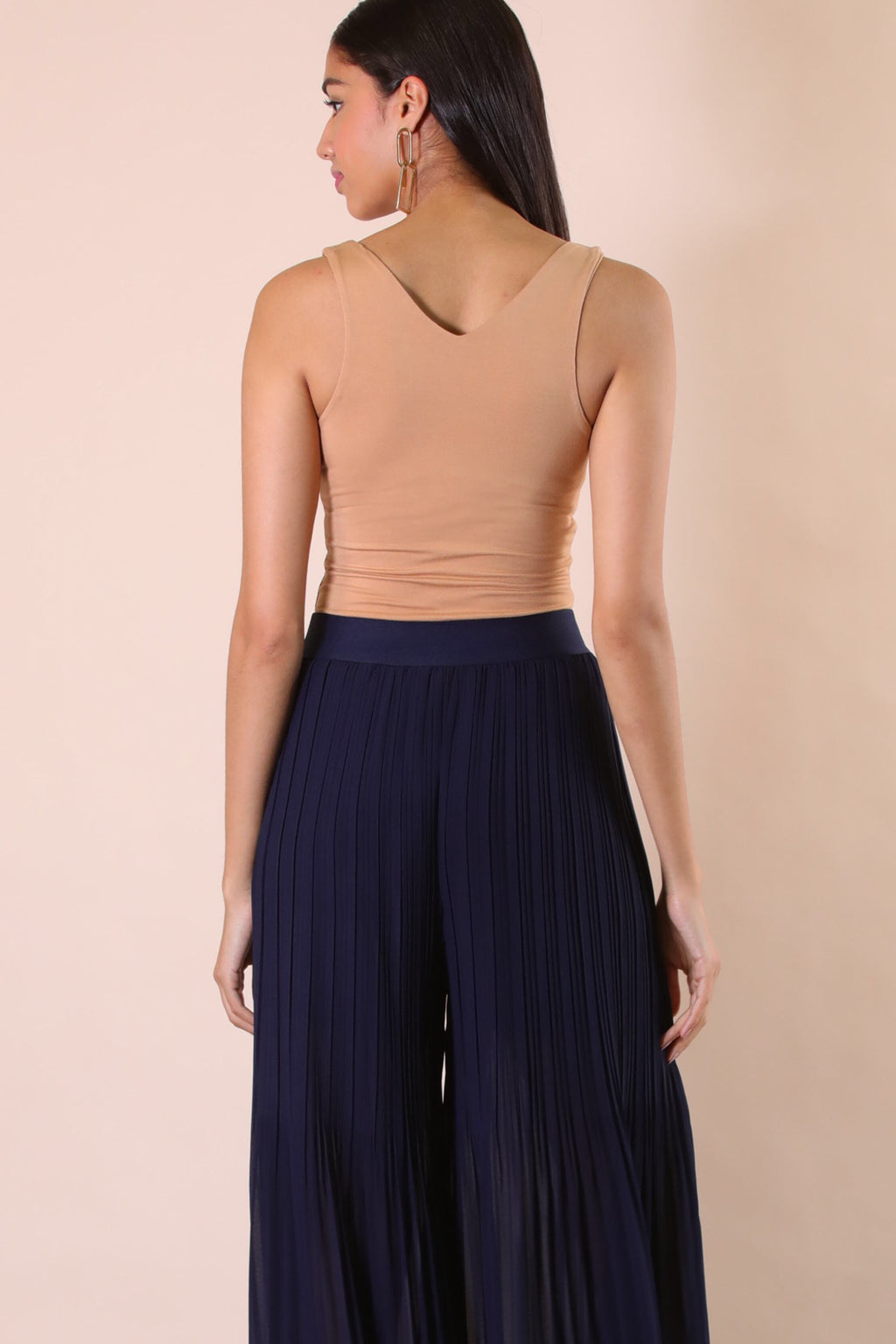Navy Flare Pant