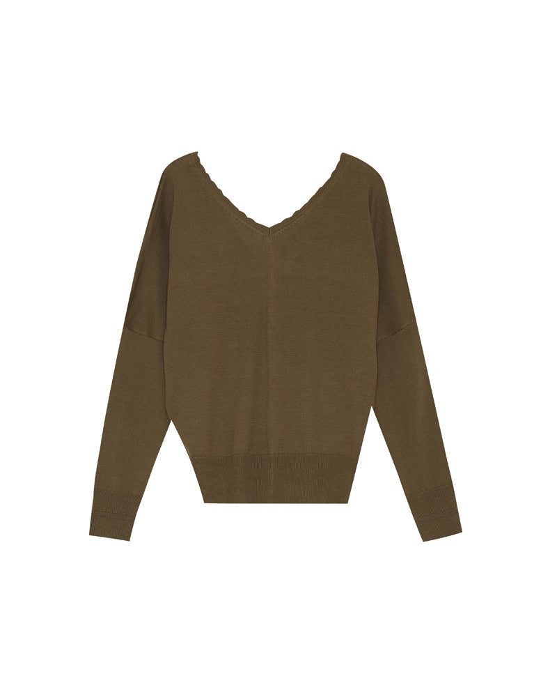 Forest Button Sweater