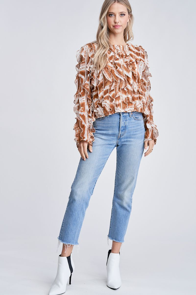 Cascading Blouse